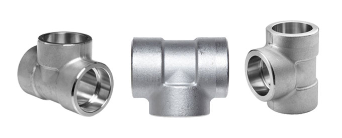 Forged socket weld equal tee divine fittings